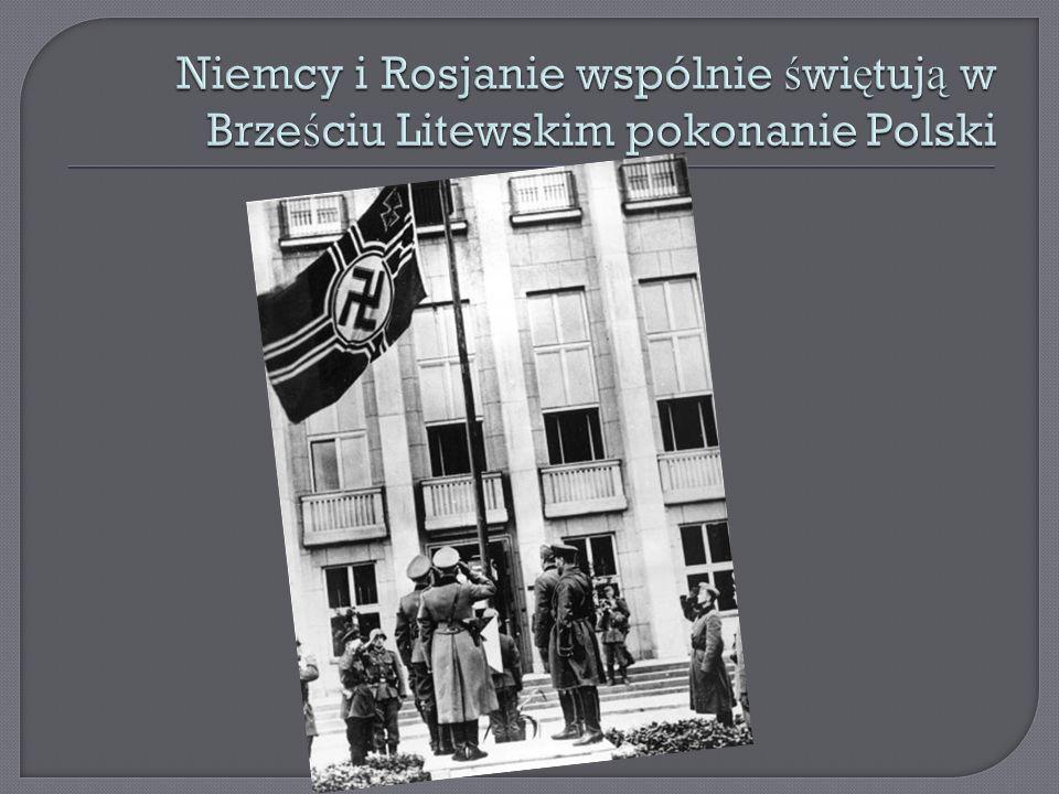 Niemcy i Rosjanie wspólnie świętują w Brześciu Litewskim pokonanie Polski