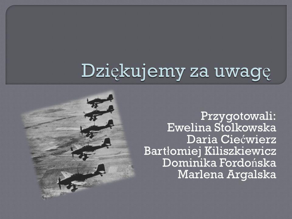 Dziękujemy za uwagę Przygotowali: Ewelina Stolkowska Daria Ciećwierz