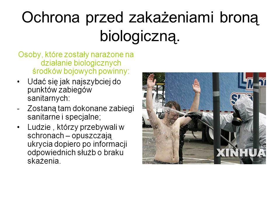 Ochrona przed zakażeniami broną biologiczną.