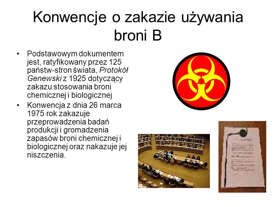 Konwencje o zakazie używania broni B