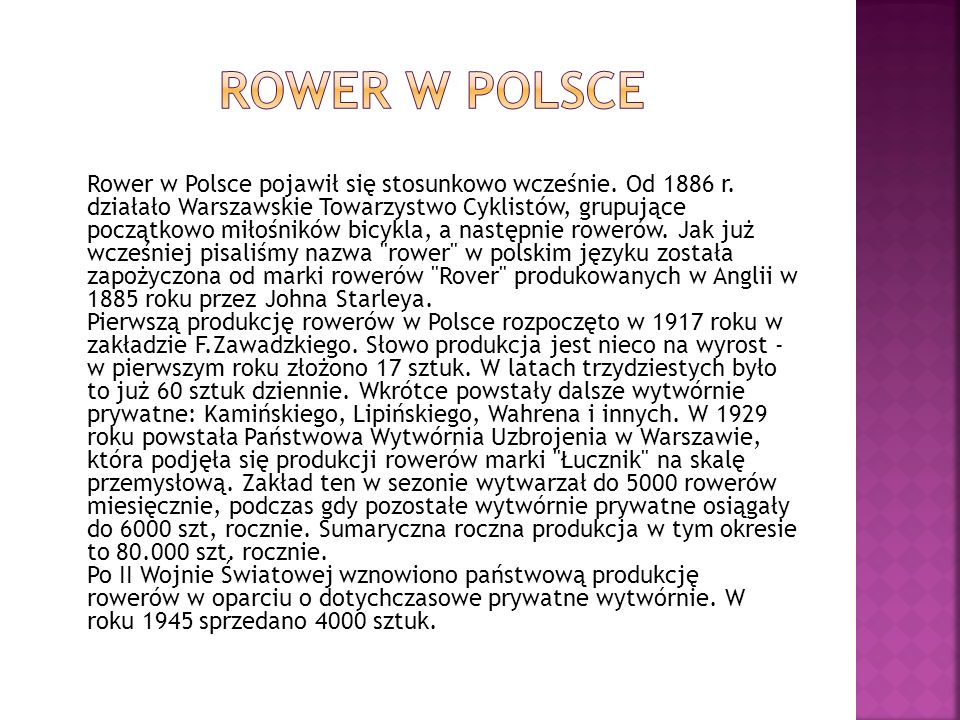 Rower w Polsce