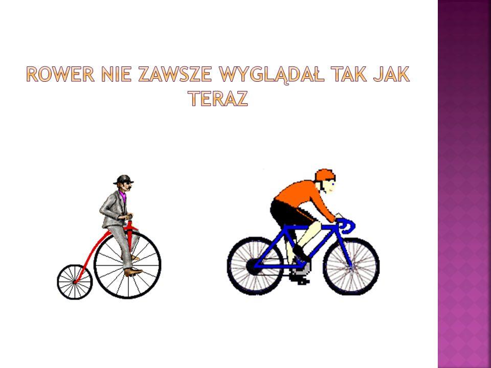 Rower nie zawsze wyglądał tak jak teraz