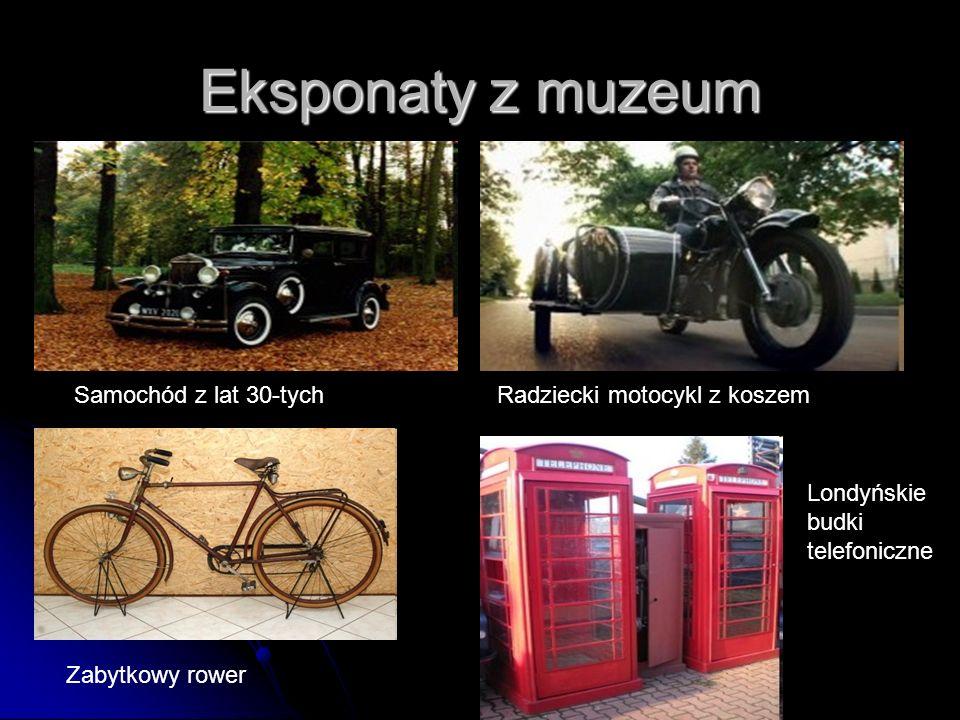 Eksponaty z muzeum Samochód z lat 30-tych Radziecki motocykl z koszem