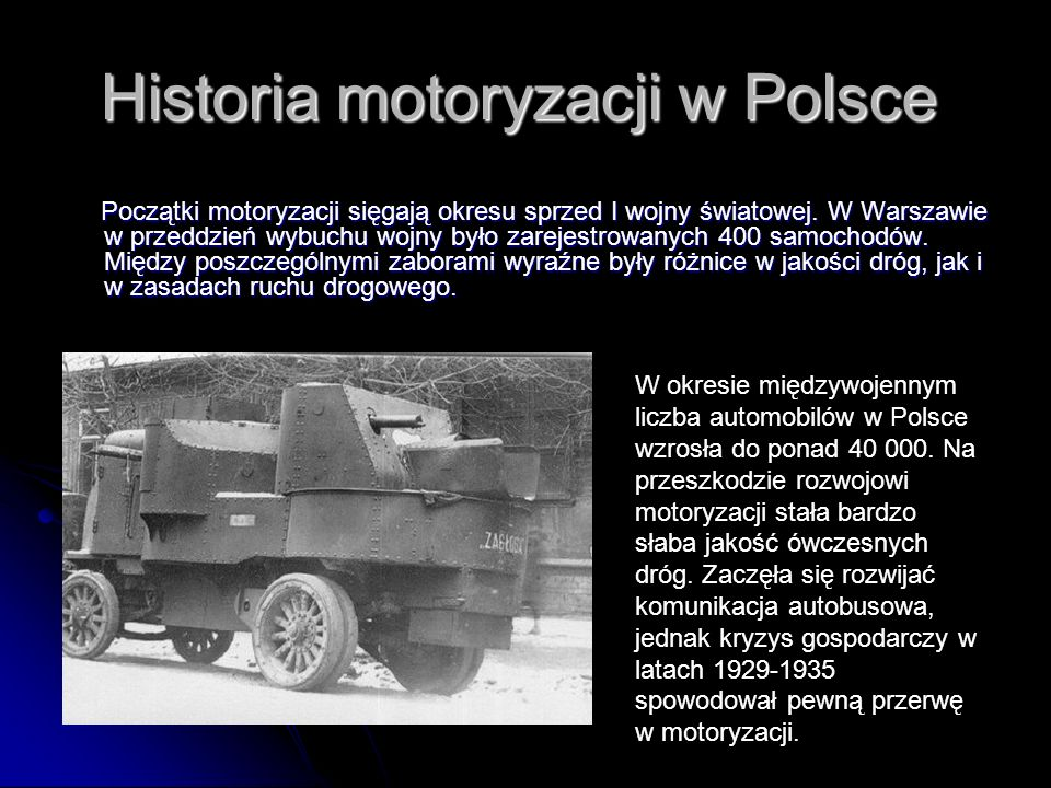 Historia motoryzacji w Polsce