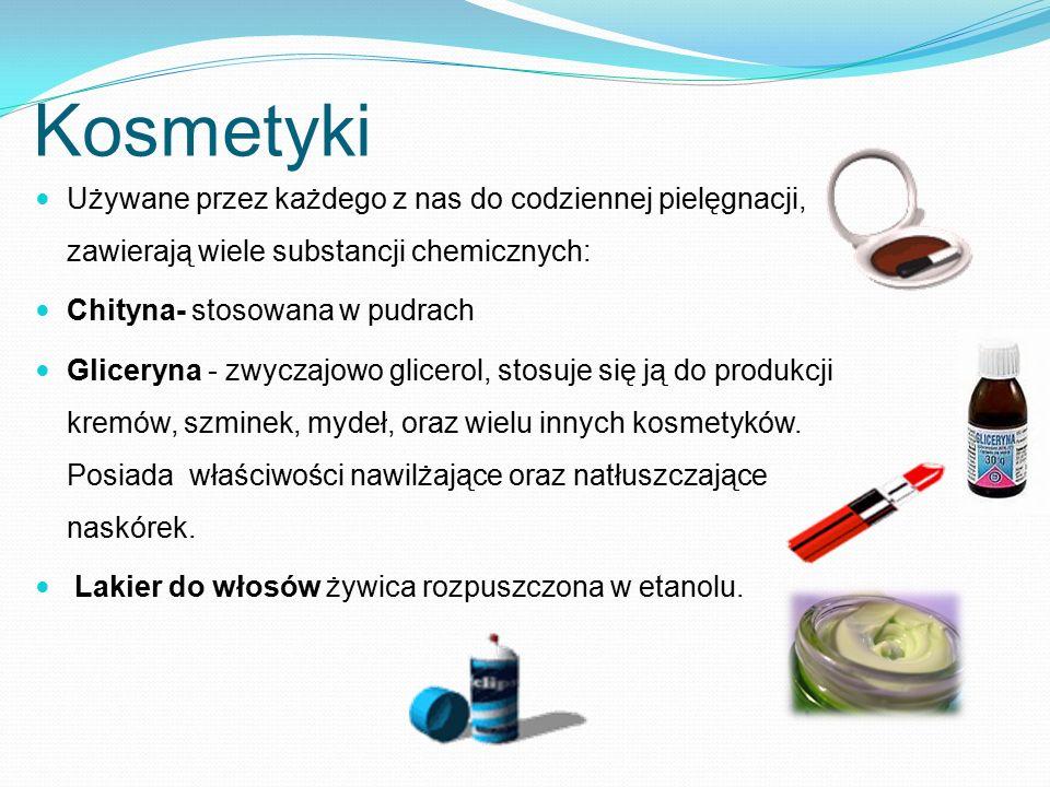 Kosmetyki Używane przez każdego z nas do codziennej pielęgnacji, zawierają wiele substancji chemicznych: