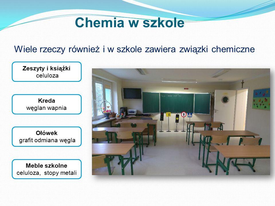 Wiele rzeczy również i w szkole zawiera związki chemiczne