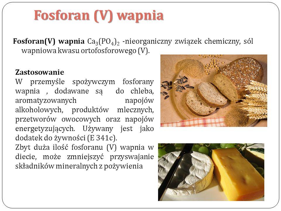 Fosforan (V) wapnia Fosforan(V) wapnia Ca3(PO4)2 -nieorganiczny związek chemiczny, sól wapniowa kwasu ortofosforowego (V).
