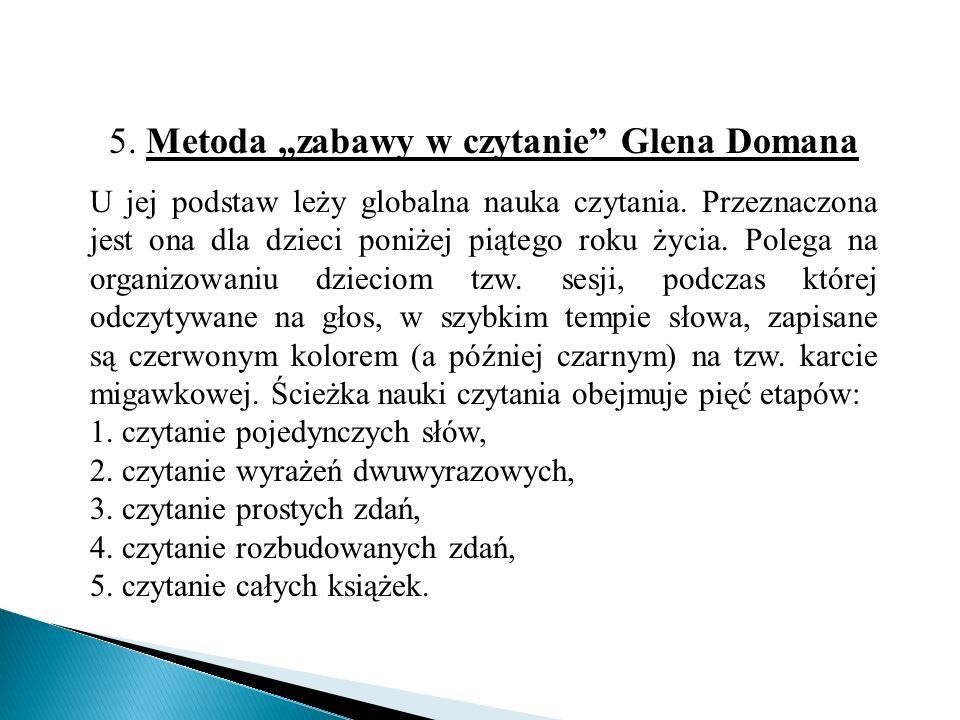 """5. Metoda """"zabawy w czytanie Glena Domana"""