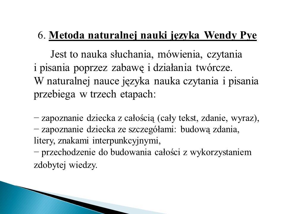 6. Metoda naturalnej nauki języka Wendy Pye