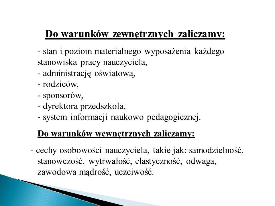 Do warunków zewnętrznych zaliczamy: