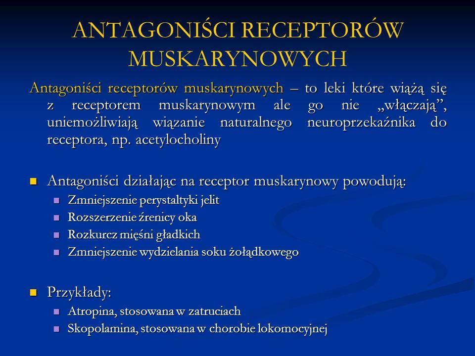 ANTAGONIŚCI RECEPTORÓW MUSKARYNOWYCH