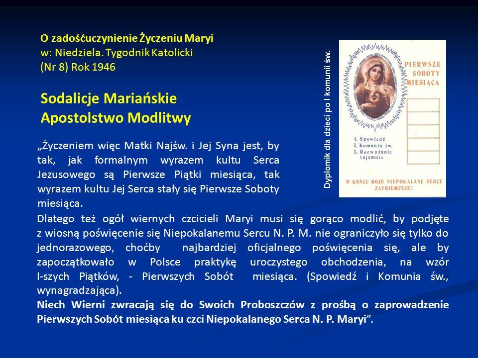 Sodalicje Mariańskie Apostolstwo Modlitwy