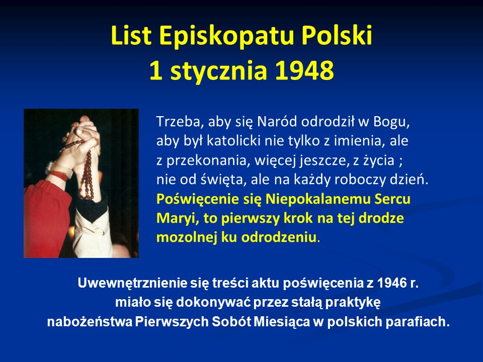 List Episkopatu Polski 1 stycznia 1948