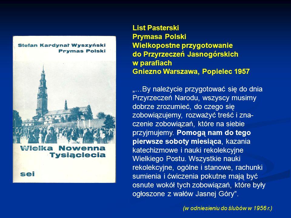 Wielkopostne przygotowanie do Przyrzeczeń Jasnogórskich w parafiach