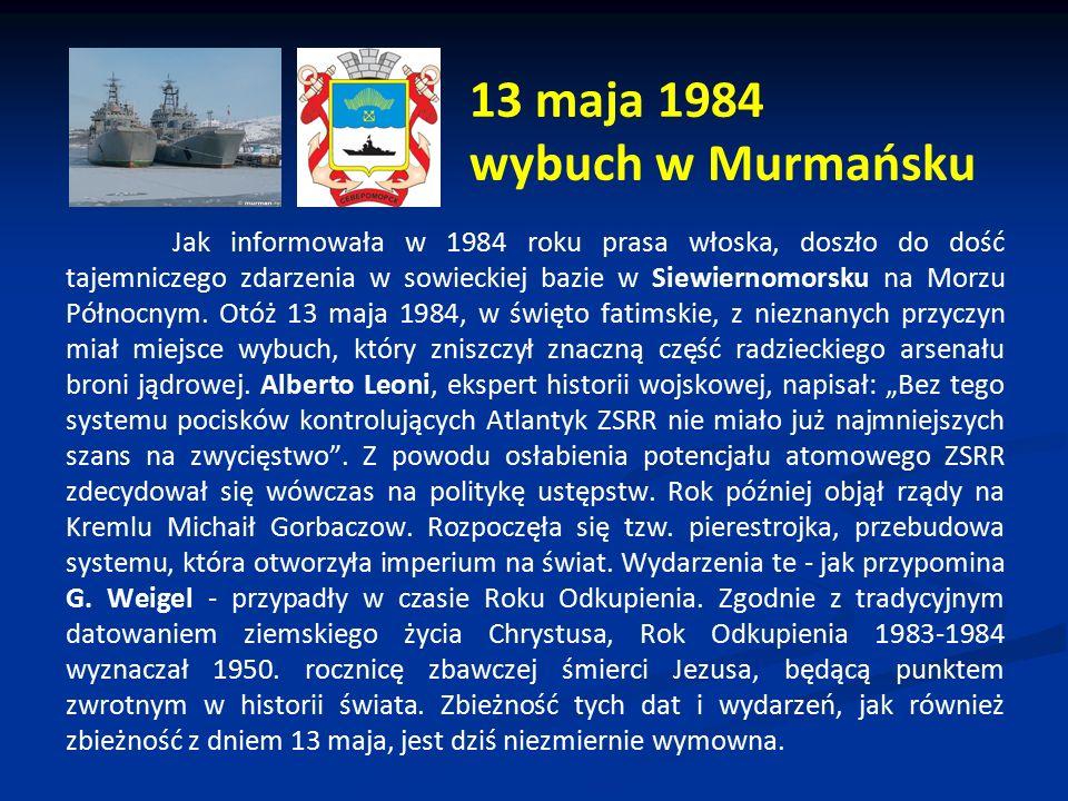 13 maja 1984 wybuch w Murmańsku