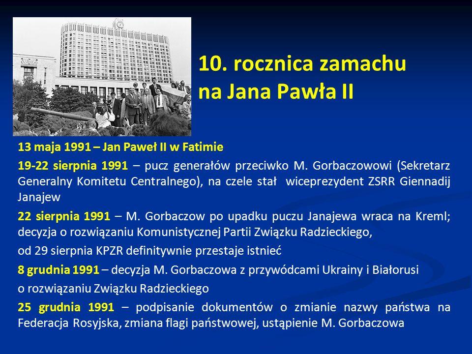 10. rocznica zamachu na Jana Pawła II
