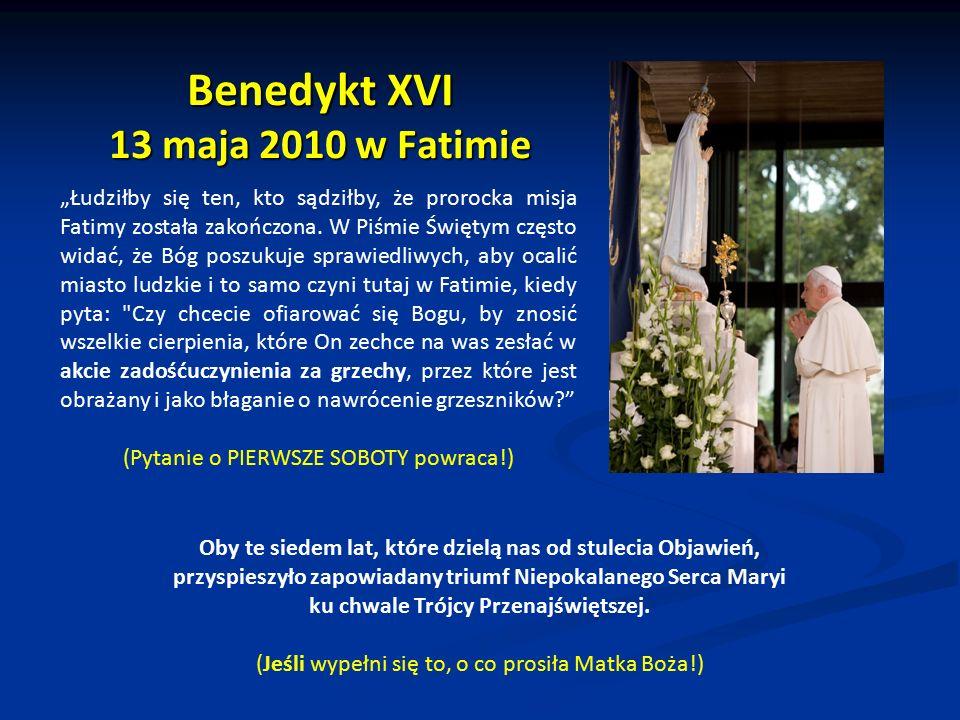 Benedykt XVI 13 maja 2010 w Fatimie