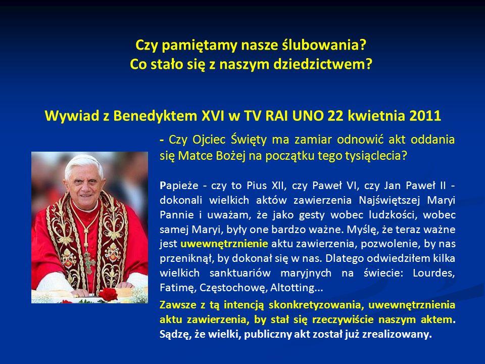 Wywiad z Benedyktem XVI w TV RAI UNO 22 kwietnia 2011