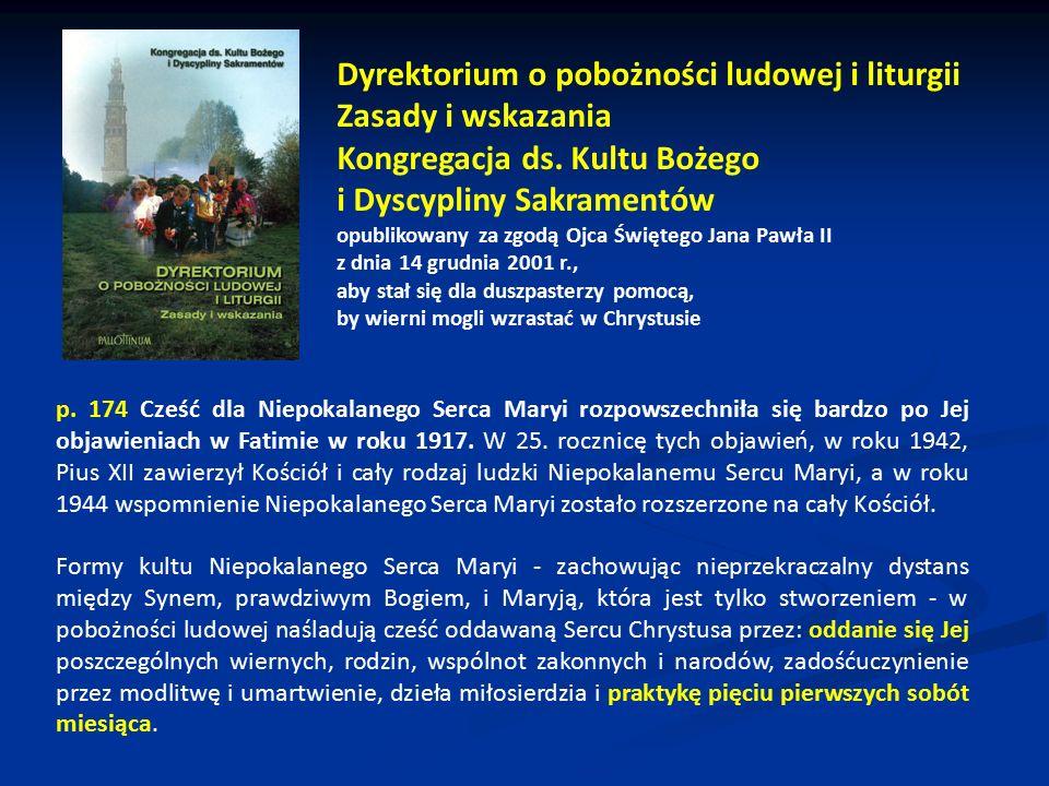 Dyrektorium o pobożności ludowej i liturgii Zasady i wskazania