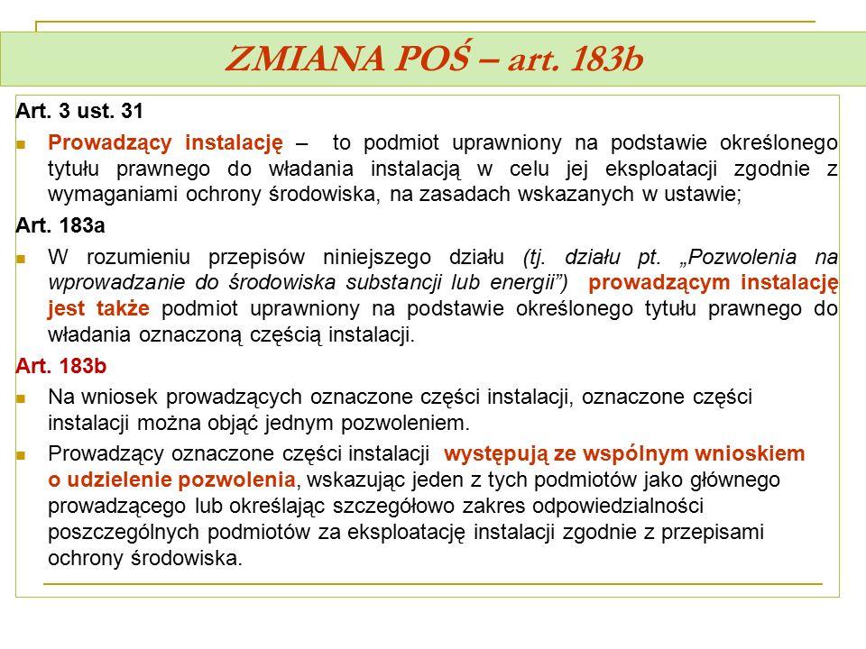 ZMIANA POŚ – art. 183b Art. 3 ust. 31