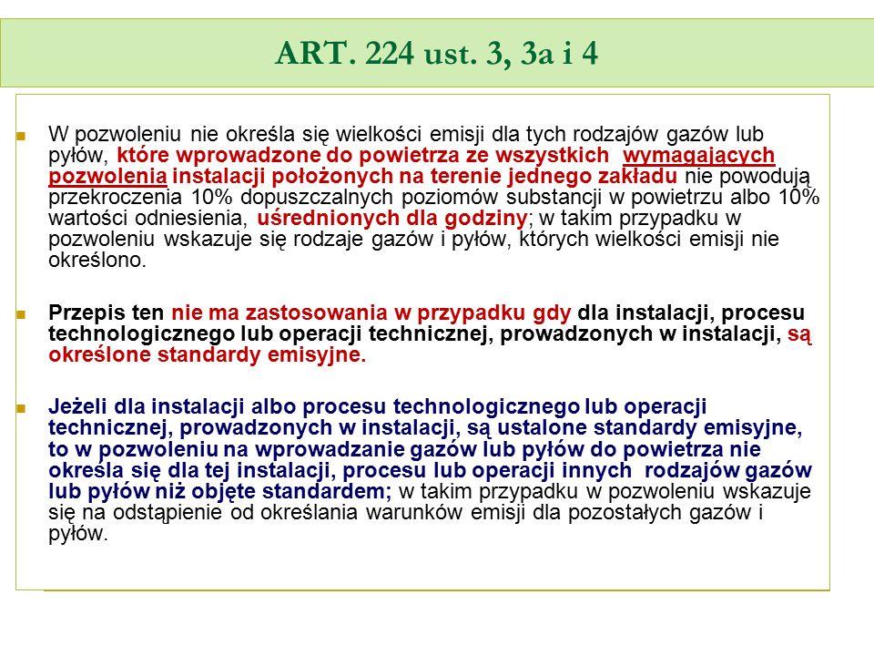 ART. 224 ust. 3, 3a i 4
