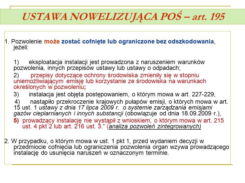 USTAWA NOWELIZUJĄCA POŚ – art. 195