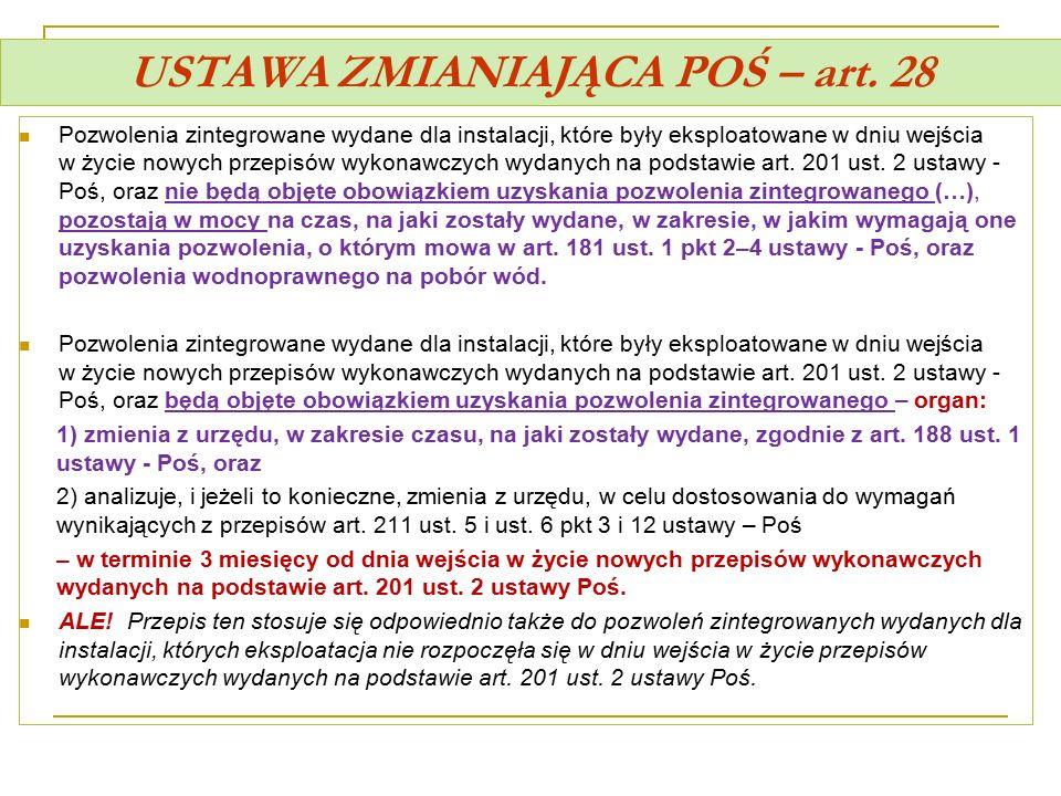 USTAWA ZMIANIAJĄCA POŚ – art. 28