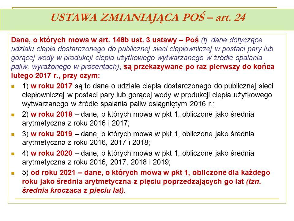 USTAWA ZMIANIAJĄCA POŚ – art. 24
