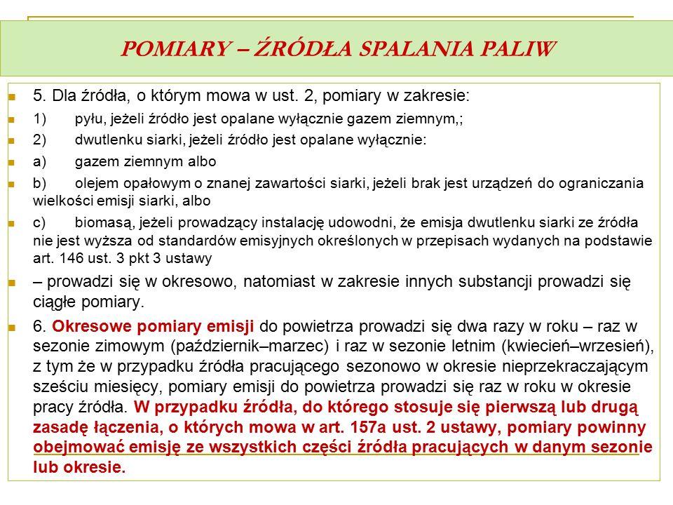 POMIARY – ŹRÓDŁA SPALANIA PALIW