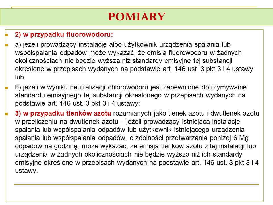 POMIARY 2) w przypadku fluorowodoru: