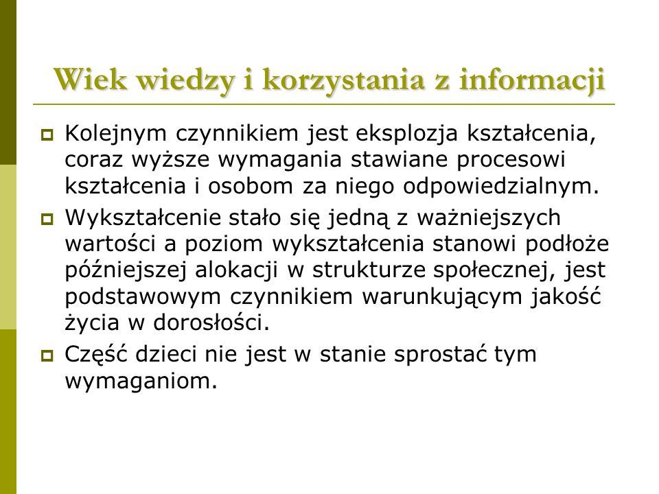 Wiek wiedzy i korzystania z informacji