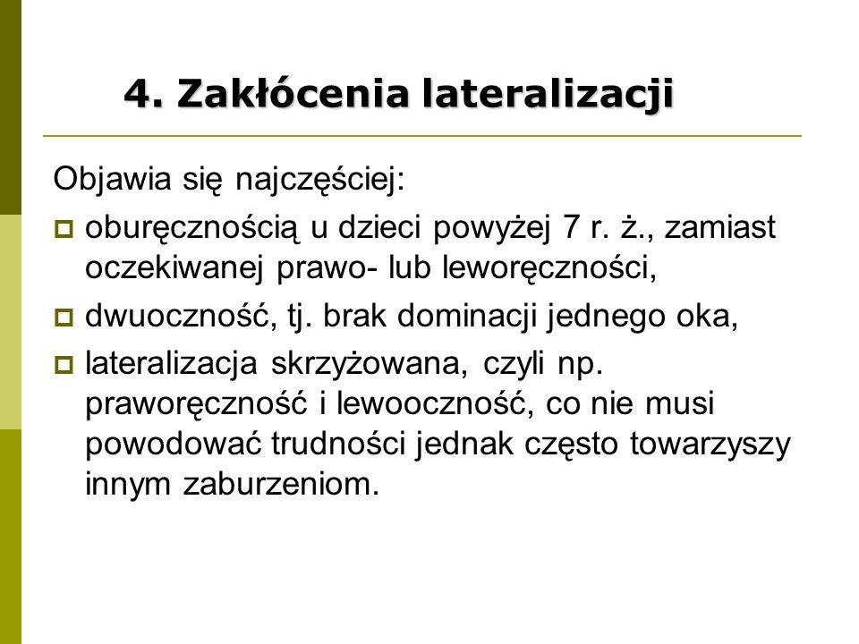 4. Zakłócenia lateralizacji