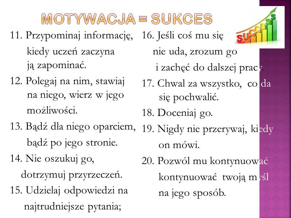 MOTYWACJA = SUKCES