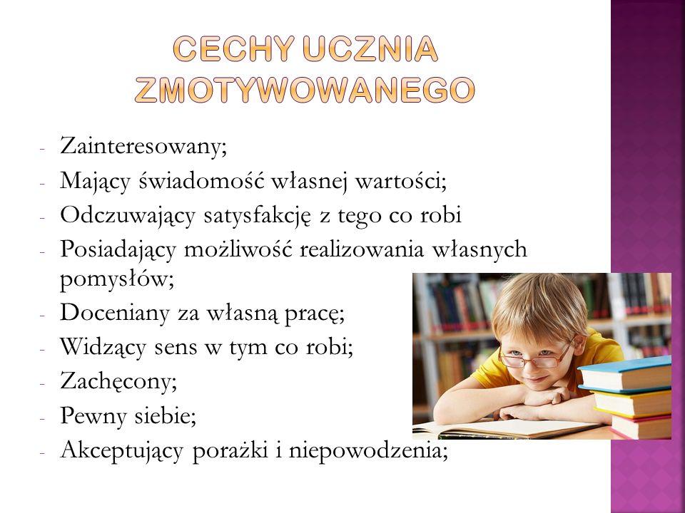 Cechy ucznia zmotywowanego