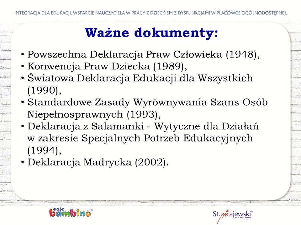 Ważne dokumenty: Powszechna Deklaracja Praw Człowieka (1948),