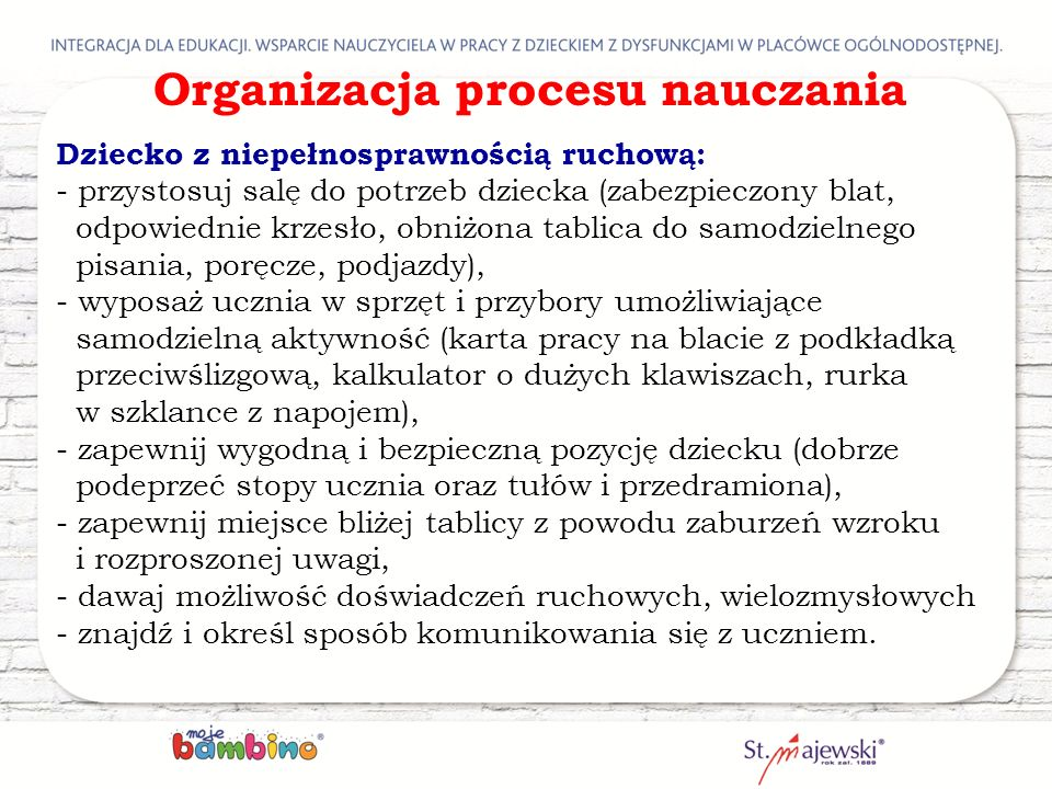 Organizacja procesu nauczania