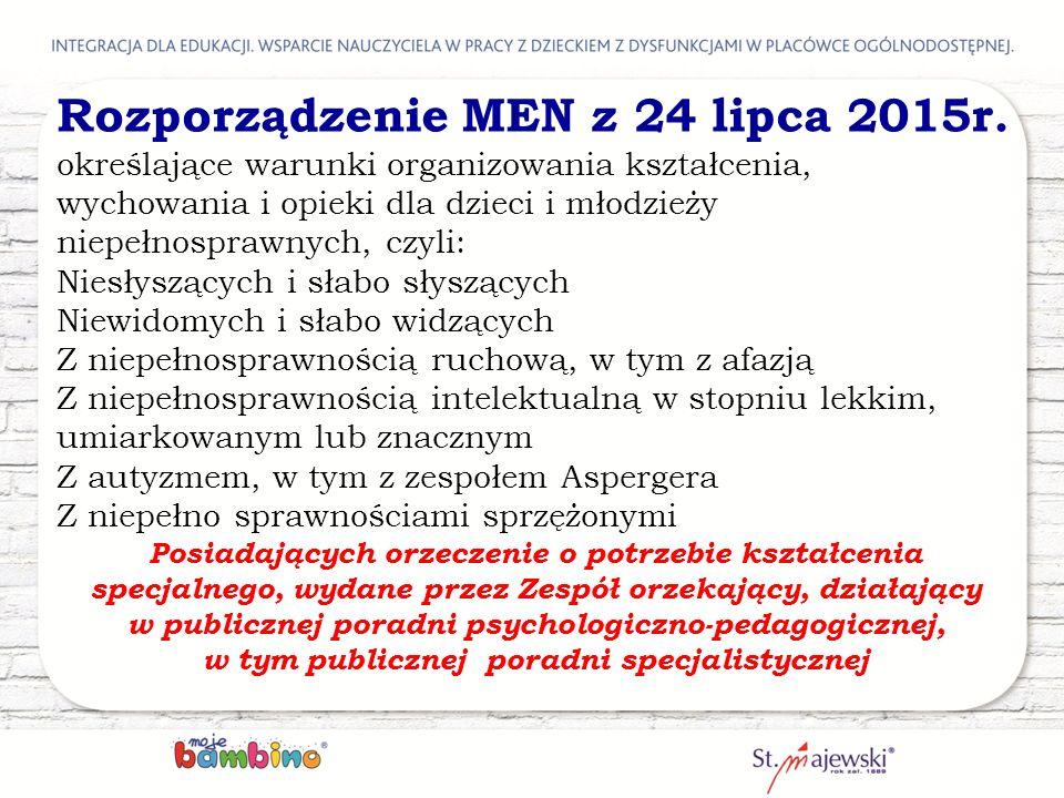 Rozporządzenie MEN z 24 lipca 2015r.