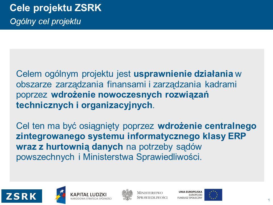 Cele projektu ZSRK Szczegółowe cele projektu