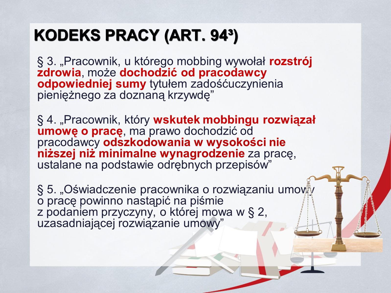Kodeks Pracy (art. 94³)