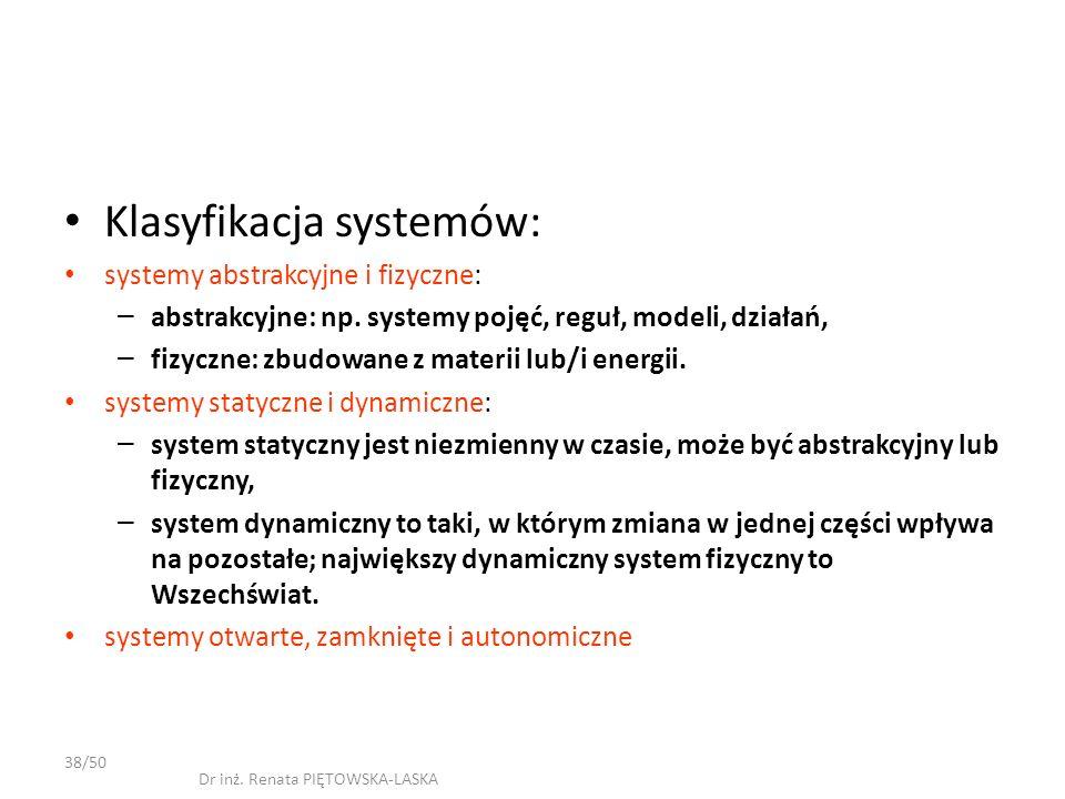 Klasyfikacja systemów: