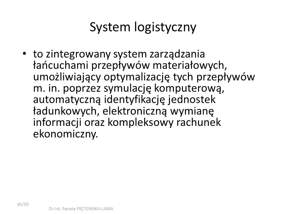 System logistyczny