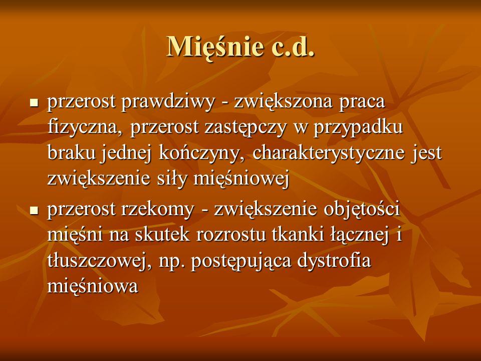 Mięśnie c.d.
