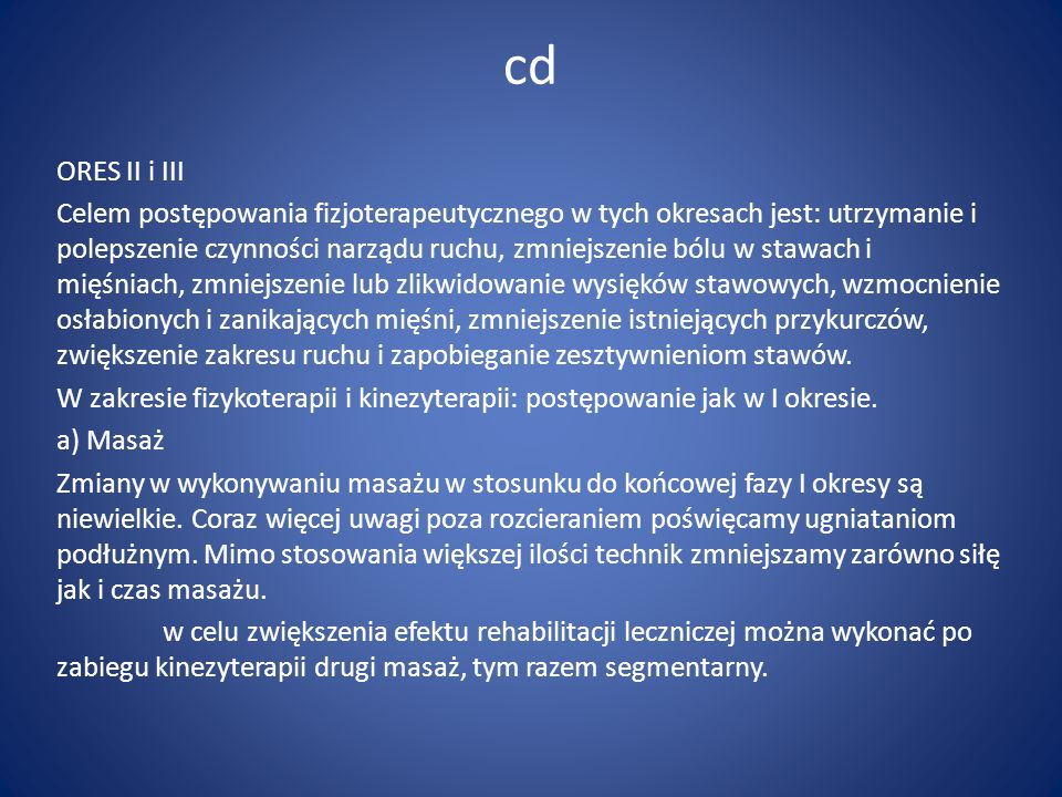 cd ORES II i III.