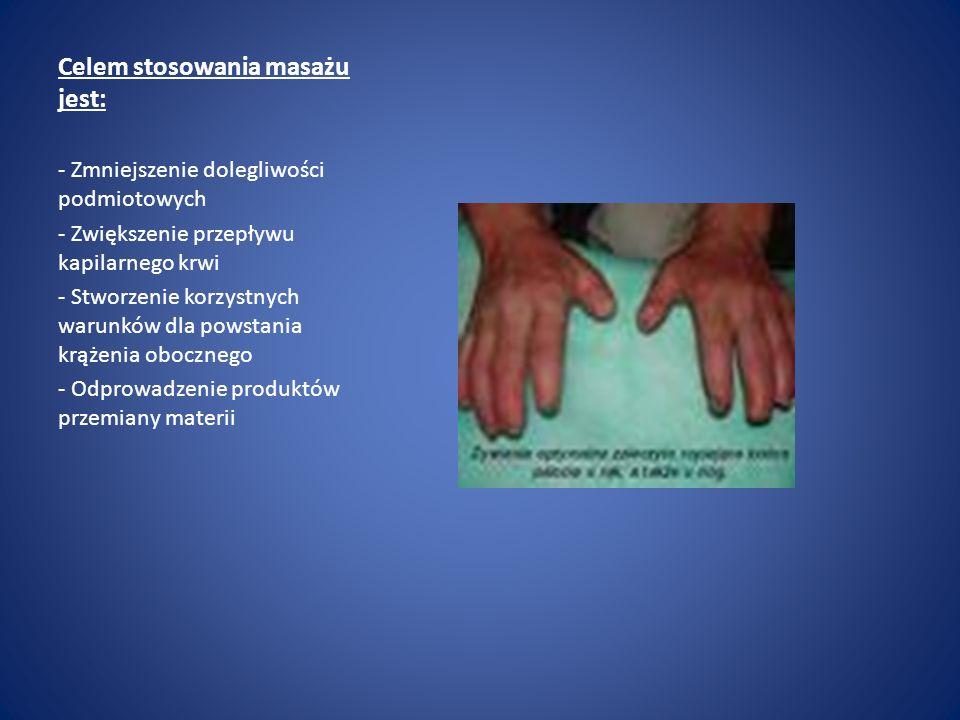 Celem stosowania masażu jest: