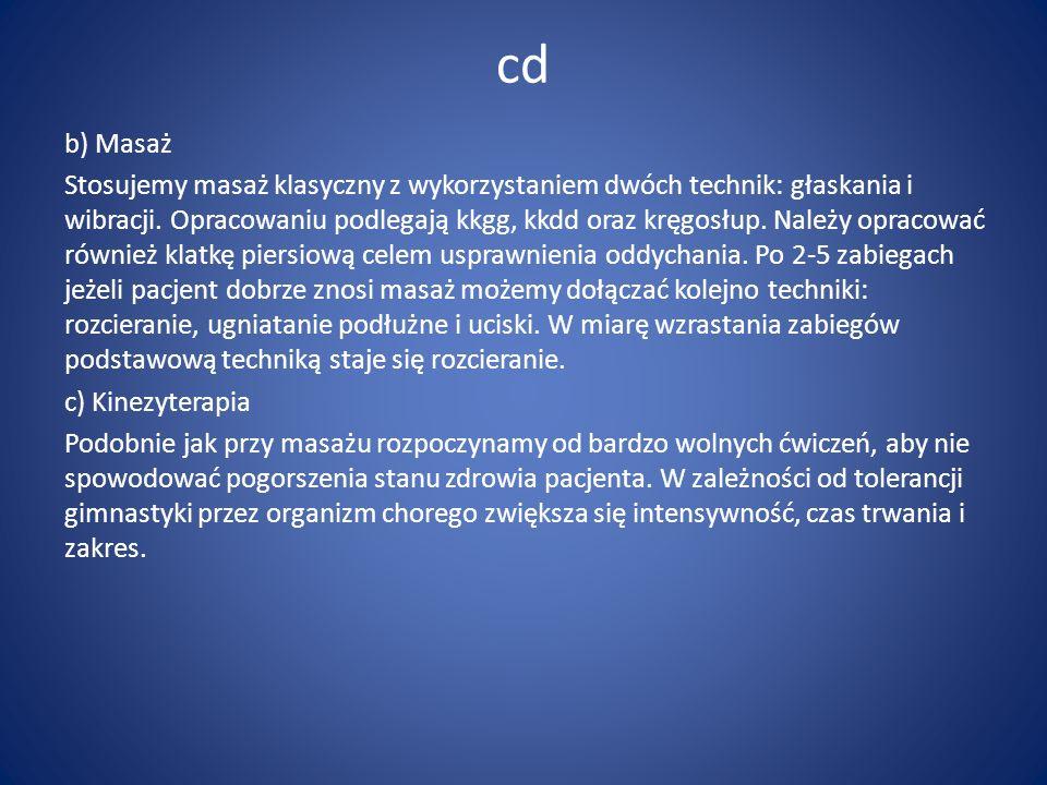 cd b) Masaż.