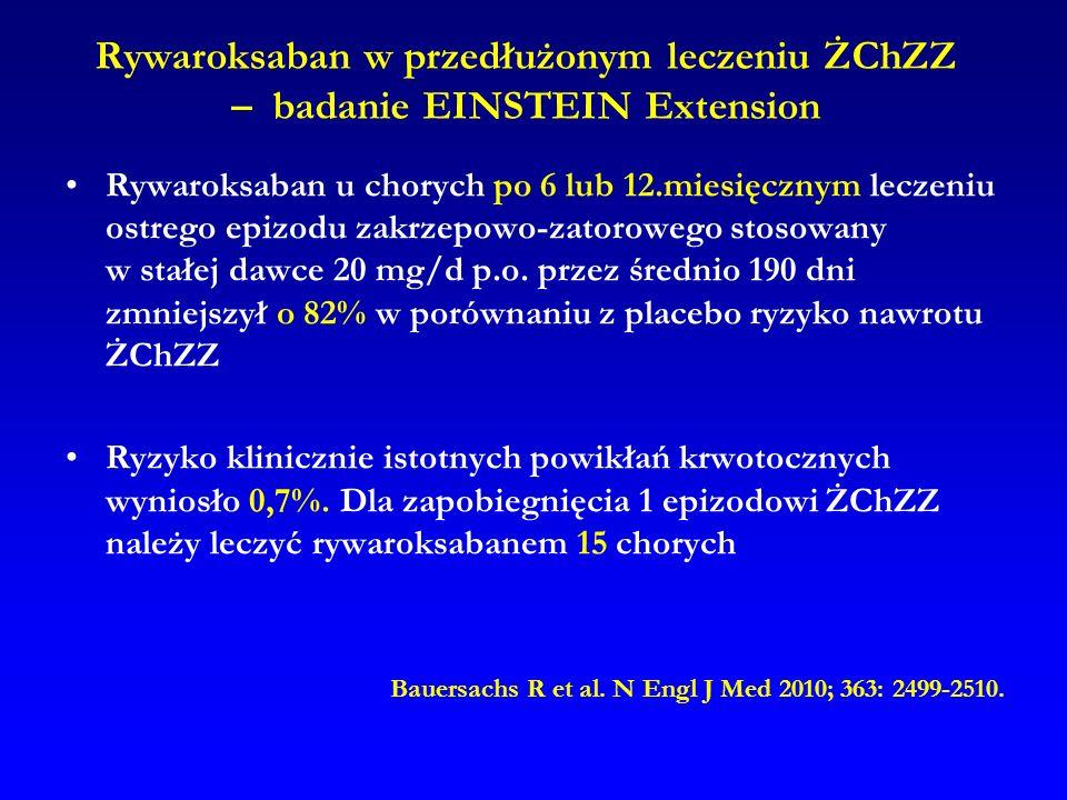 Rywaroksaban w przedłużonym leczeniu ŻChZZ – badanie EINSTEIN Extension