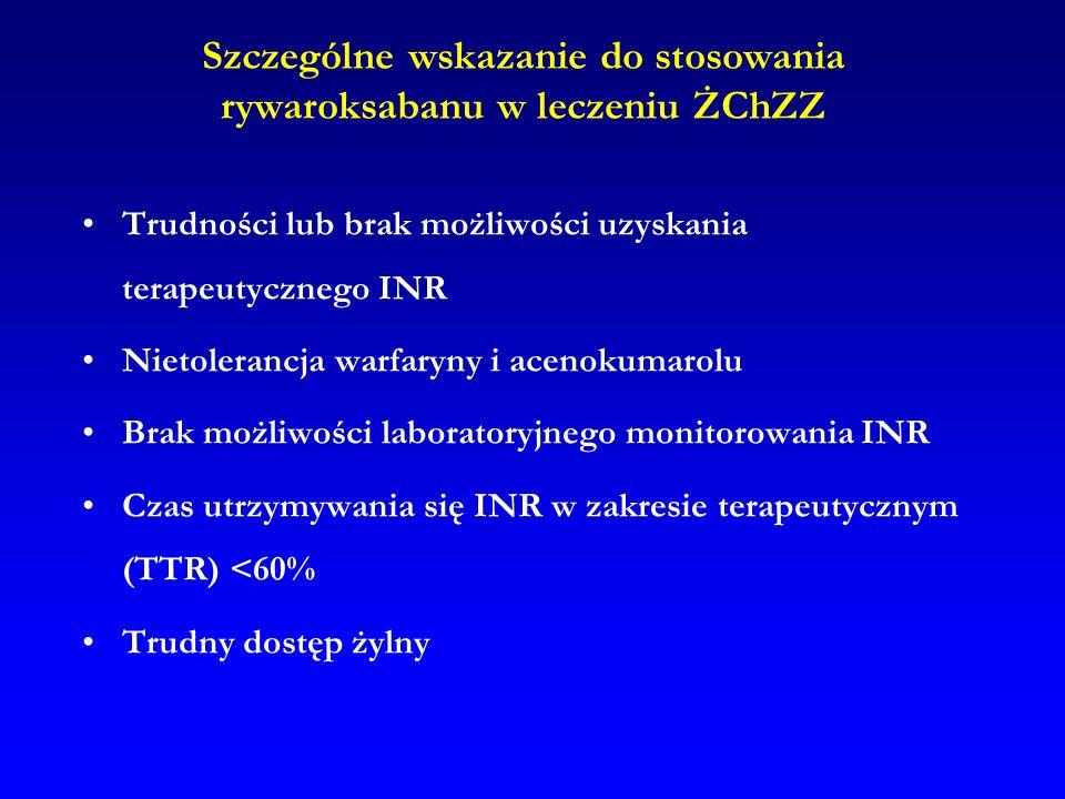 Szczególne wskazanie do stosowania rywaroksabanu w leczeniu ŻChZZ