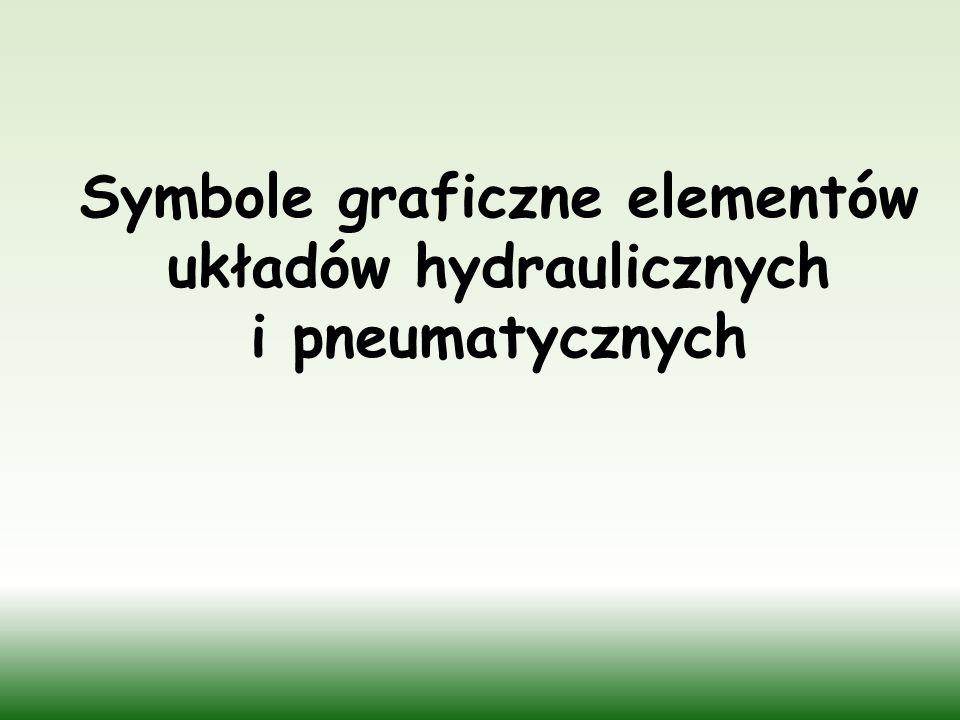 Symbole graficzne elementów układów hydraulicznych i pneumatycznych