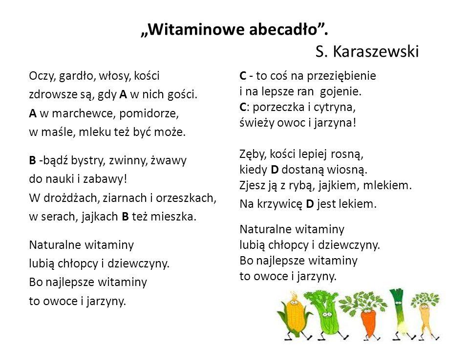 """""""Witaminowe abecadło . S. Karaszewski"""