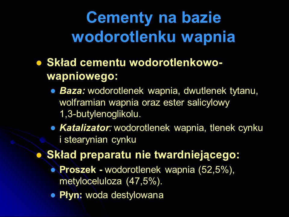Cementy na bazie wodorotlenku wapnia